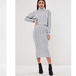 Missguided Co-Ord Sweater Skirt Set